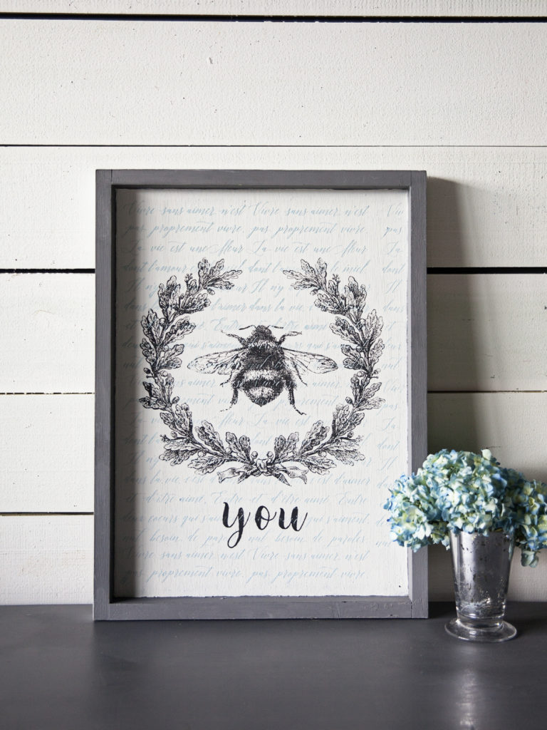 Fun, simple craft project that reminds you of how great you truly are every time you see it! This DIY BEE You stencil project by A Makers' Studio is something you can use to customize virtually any surface – from wood to canvas and even walls and furniture!